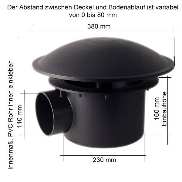 bodenablauf abs 110 mm extra schwere qualit t 23 50. Black Bedroom Furniture Sets. Home Design Ideas