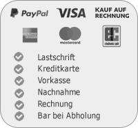 Paypal, Vorkasse, Nachnahme, Rechnung
